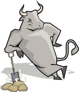 Shoveling Bull